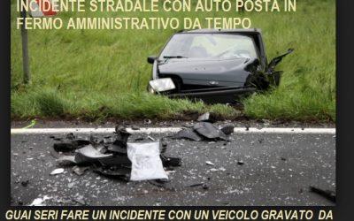Fermo amministrativo e incidente stradale sono nei guai?