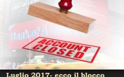 L'Ufficio delle Entrate Riscossionivisionerà i conti correnti a partire da Luglio 2017