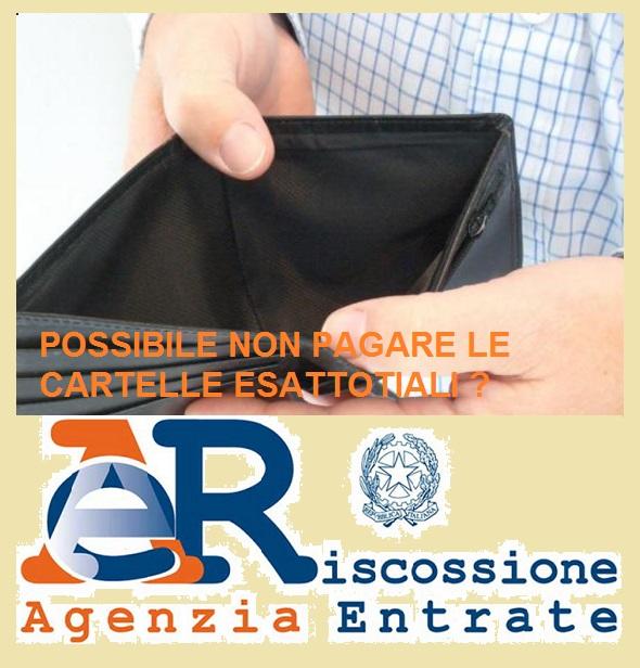 Cartelle Agenzia Entrate Riscossioni possibile non pagarle o quando?