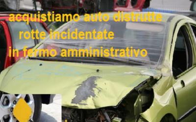 Compro auto distrutte in fermo amministrativo: tutte le marche